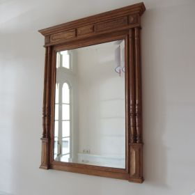 mirror-facet-frame-oak-wood-mechelen-early-20th-century-antique