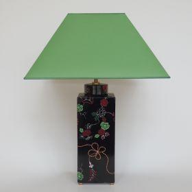 lamp-porcelain-handpainted-square-black
