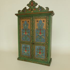 cupboard-painted-antique-Art-Nouveau-begin-20th-century