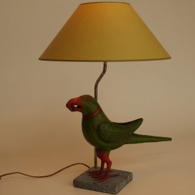 lamp-papegaai-metaal-lampenkap