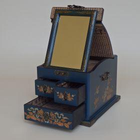 spiegel-doos-leer-blauw