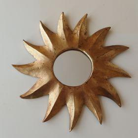 spiegel-zon-houtblad-goud