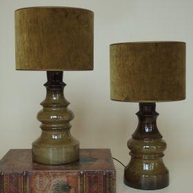 stel-lampen-handgedraaid-aardewerk-Urbano-Fontana-Italy-jaren-70-vintage