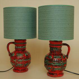 stel-lamp-keramiek-jaren-70