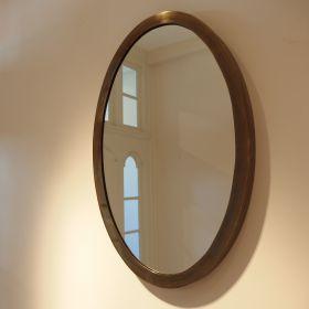 spiegel-ovaal-lijst-messing-vintage