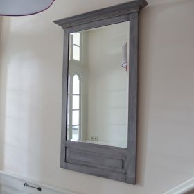 mirror-faceted-frame-wood-grey-early-20th-century-antique