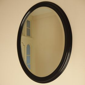 mirror-oval-facet-cut-glass-frame-wood