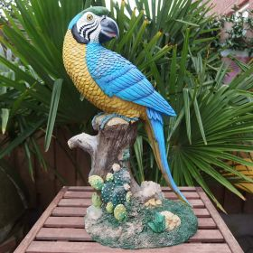parrot-resin-20th-century-blue-yellow